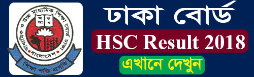 Dhaka Board HSC Result 2018